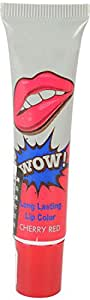 M2J Retail Looks United Waterproof Long Lasting Peel Off Mask Lip Color, Cherry Red