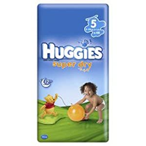 Huggies Super Dry Nappies Size 5 Economy Pack (44s)