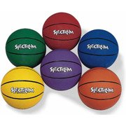 Rubber Basketball Set, Set of 6, intermediate 28.5-Spectrum by Spectrum