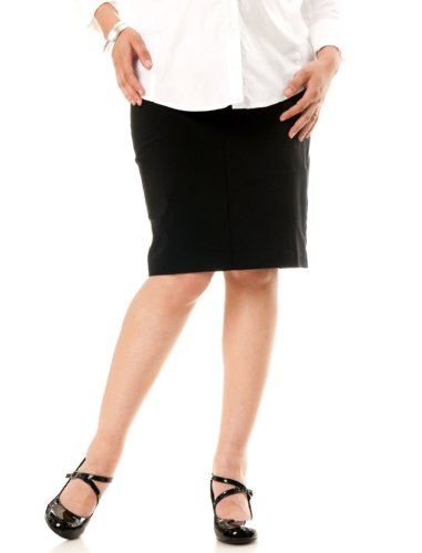 A Pea in the Pod: Self Belly Knee Length Pencil Fit Maternity Skirt Image