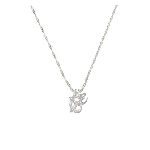 3-D Pretzel Mini Gelato Initial - E - Grace Necklace