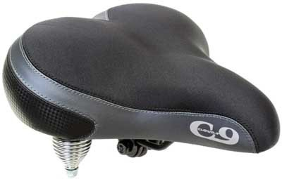 Sunlite Cloud-9, Bicycle Suspension Cruiser Saddle, Cruiser Gel, Tri-Color Lycra