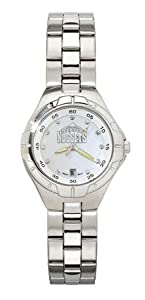 Denver Nuggets NBA Pearl Ladies Bracelet Watch With Mop Dial by Logo Art