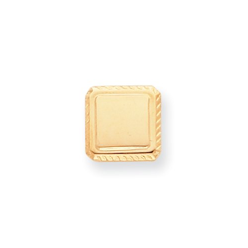 Gold-plated Square Tie Tack