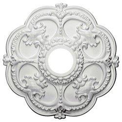 18 Inch Ceiling Medallion Rotherham White Primed Polyurethane By Designer's Edge Millwork #D528