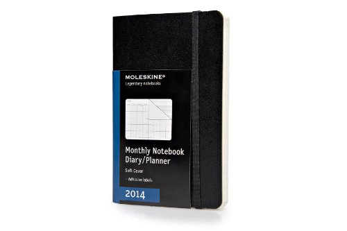 Moleskine 2014 Monthly Planner, 12 Month, Pocket, Black, Soft Cover (3.5 x 5.5) (Planners & Datebooks)