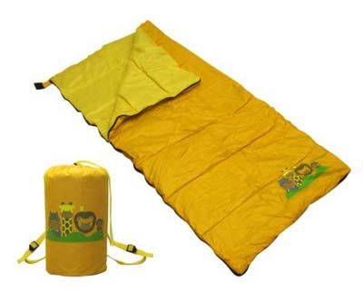 New Gigatent Youth Sleeping Bag Zoo camping/vacation Velcro zipper polyester back pack child