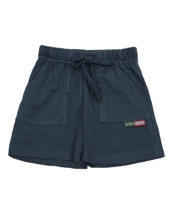Bright Bots Unisex Baby Rock Elasticated Waist Cotton Jersey Shorts Navy Blue 2 - 3 Years