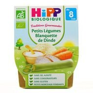 Hipp - Petits légumes blanquette de dinde bio, dès 8 mois, 2x190g lot de 3
