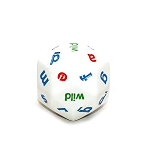 game with 20 sided die with 20 letters of the alphabet