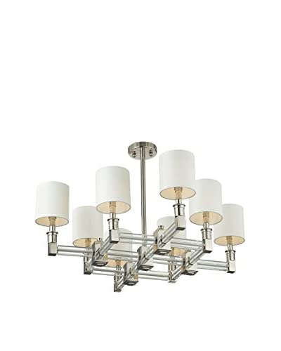 Artistic Lighting Chandelier, Polished Nickel / Clear