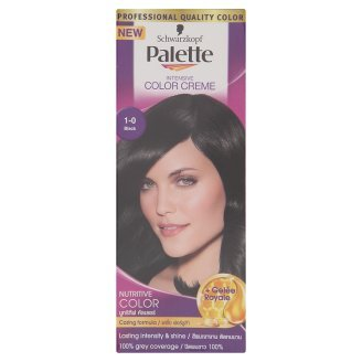 PALETTE By Schwarzkopf Intensive Permanent Colour Cream Hair Colour 1-0 BLACK 100 ML