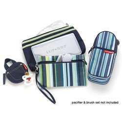 skip hop diaper bag details blue stripe. Black Bedroom Furniture Sets. Home Design Ideas