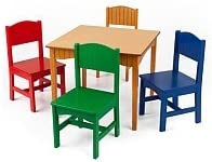 KidKraft 26121 Nantucket Table and Primary Chairs