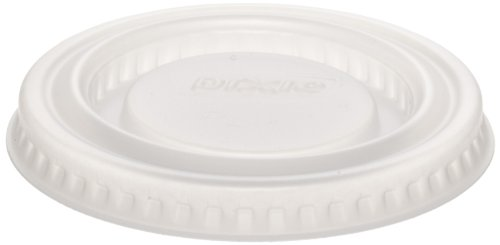 Dixie PL1 Plastic Lid Fits 0.75 oz. and 1.25 oz. Dixie Plastic Souffle Cups, Translucent (48 Sleeves of 100) (Deli Printer compare prices)