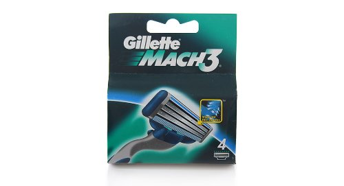 Gillette Mach3 Blades - 4 Cartridges