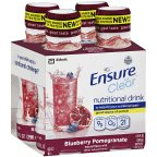 Ensure Clear Blueberry Pomegranate Nutritional Drink Bottle 4 Pk (Pack Of 6)