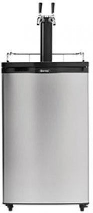 Danby DKC052BSL2DB 21″ Freestanding Dual Tap Keg Dispenser With 5.2 cu. ft. Capacity Scratch Resistant Worktop And Automatic Defrost Swivel Castors: Stainless