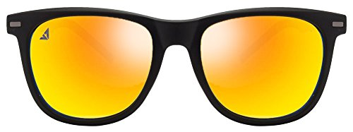 Vincent Chase VC 5187 Matte Black Yellow Mirror C15 Wayfarer Sunglasses (103742)