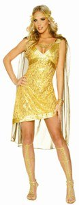 Golden Goddess Adult Costume Size Large