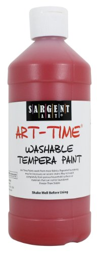 Sargent Art 22-3420 16-Ounce Art Time Washable Tempera, Red