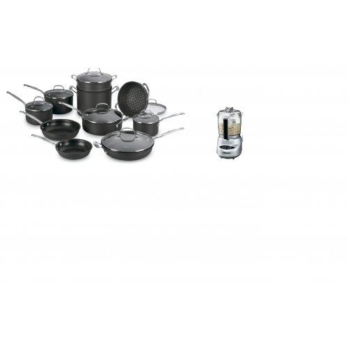 Cuisinart Chef's Classic 66-17 Cookware Set 17 PC + Cuisinart DLC-2A Mini-Prep Plus Food Processor