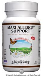 Maxi Health Kosher Maxi Allergy Support - 180 MaxiCaps