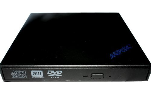 USB2.0 Slim Portable External Rewriteable 24x CD and 8x DVD +/- RW Drive, Read/write DVD Burner for HP Mini 1010NR 1110NR 1120NR 1137NR 1035NR 1150NR 1035NR 1140NR 1101 N270 110 1000 1115NR 2140 seires Mini-Note HP 2133-KX870AT HP 2133-KX868AT series Laptops USB 2.0