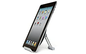 "Tablet-Mate 701 Aluminium foldable desk stand holder cradle for iPad, iPad 2, new iPad, iPad mini, Nexus, Samsung Galaxy Tab / Note, HTC Flyer, 7""-10"" Tablet PC, 7""-10"" Touch Pad - GRAY"