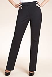 Petite Flat Front Zip Pocket Slim Leg Trousers
