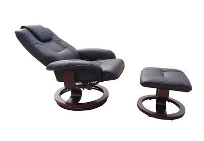 Swivel Recliner With Ottoman front-426173