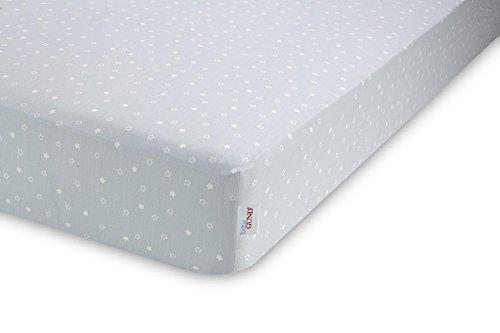 GUND Babygund Twinkle Twinkle Sateen Crib Sheet, Twinkle Twinkle - Peek A Blue, 28'' By 52''
