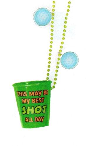 funny shot glasses. funny shot glasses : Golf Shot Glass on Bead Chain Necklace Description