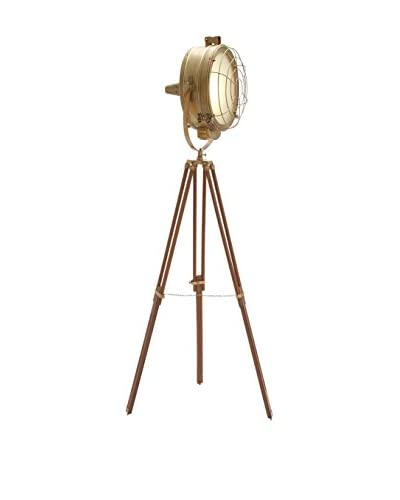 1-Light Studio Light, Natural/Brass