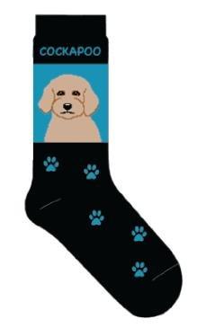Cockapoo Novelty Dog Breed Adult Socks
