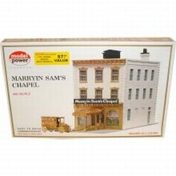 Model Power 457 HO Scale Marry'in Sam Chapel Bldg Kit