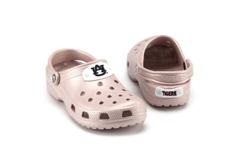 NCAA Auburn Tigers Slip-On Classic Clog Style Shoe By Crocs, Cotton Candy, Men's 4/Women's 6 at Amazon.com