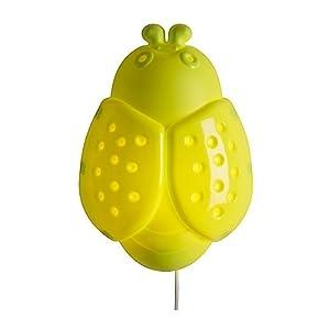 "IKEA - SMILA STJÃ""RNA Kid Room Wall Lamp, Green Bug from IKEA"