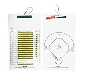 KBA Magnetic Baseball Softball Line-Up Coaches Clipboard by Korney Board Aids