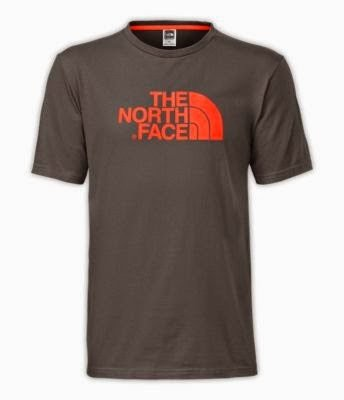 The North Face Short Sleeve Half Dome Tee Men'S Graphite Grey/Valencia Orange L front-966132