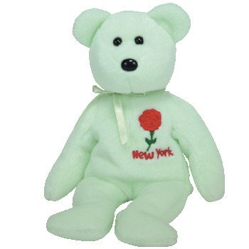 TY Beanie Baby - NEW YORK ROSE the Bear (Show Exclusive) - 1
