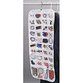 Whitney Design 80-Pocket Ultra Jewelry Organizer, White