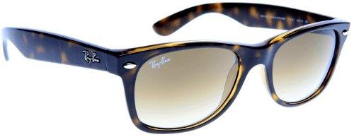 50e170b04d8 Ray Ban Rb2132 New Wayfarer Light Tortoise Frame Brown Gradient Lens  Plastic Sunglasses