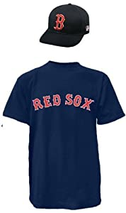 Boston Red Sox MLB Cap & Jersey (Official Major League Baseball Licensed Replica... by Authentic Sports Shop