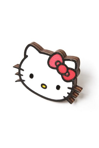 Neivz x Sanrio - women's Flat Laminate Hello Kitty Ring (White)