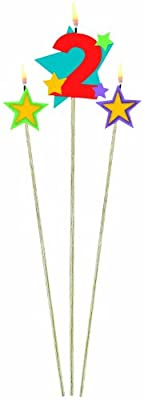 Amscan International Birthday Candles On Sticks 2 Stars Pack Of 3 from Amscan International