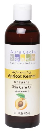 Aura Cacia Natural Skin Care Oil, Rejuvenating Apricot Kernel with Vitamin E, 16 Fluid Ounce