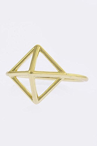 Karmas Canvas Pyramid Tip Wire Ring (Gold)