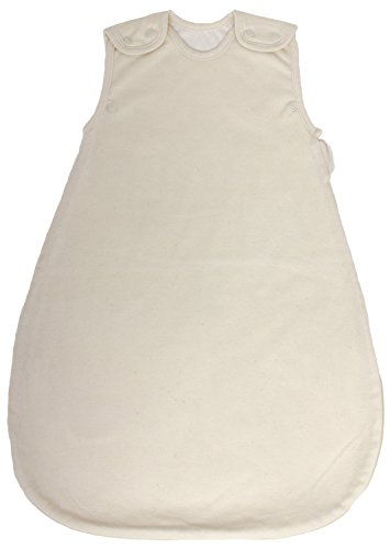 100% Organic Cotton, Summer Model, 1 Tog, Double Layered Baby Sleeping Bag in Cream Color (Small (3 - 11 mos))