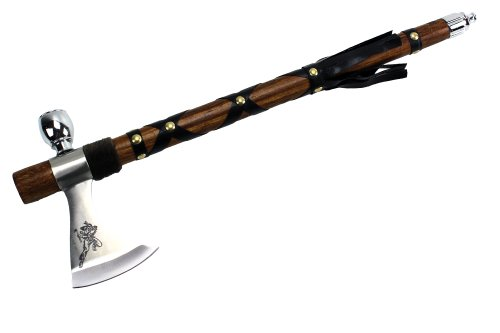"Wuu Jau Co L-117 Native American Peace Pipe Tomahawk Axe, 18"""